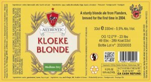 Kloeke Blonde 5,5% Abv – 24X33cl
