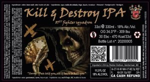 Kill & Destroy 18% Abv – 24X33cl