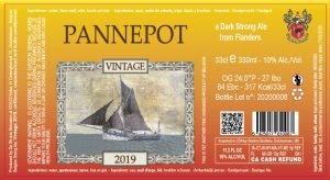 Pannepot 2019 – 10% Abv – 24X33cl