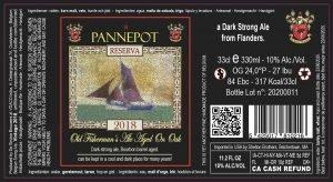 Pannepot Reserva 2018 – 10% Abv – BBA – 24X33cl