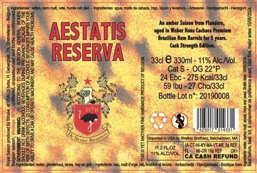 Aestatis Cashasa Rum Reserva 6